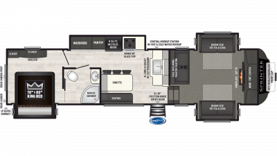 2019 Sprinter Limited 3340FWFLS Floor Plan Img
