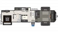 2019 Sprinter Limited 3341FWFLS Floor Plan