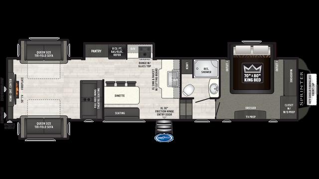 2019 Sprinter Limited 3530FWDEN