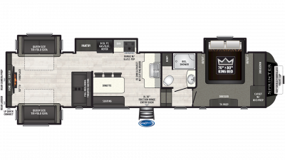 2019 Sprinter Limited 3530FWDEN Floor Plan Img
