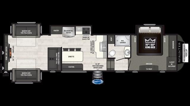 2019 Sprinter Limited 3531FWDEN