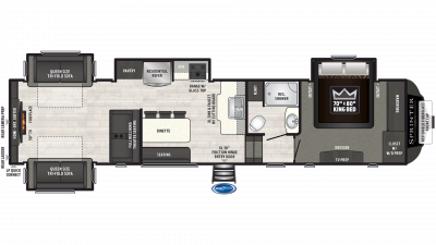 2019 Sprinter Limited 3531FWDEN Floor Plan Img