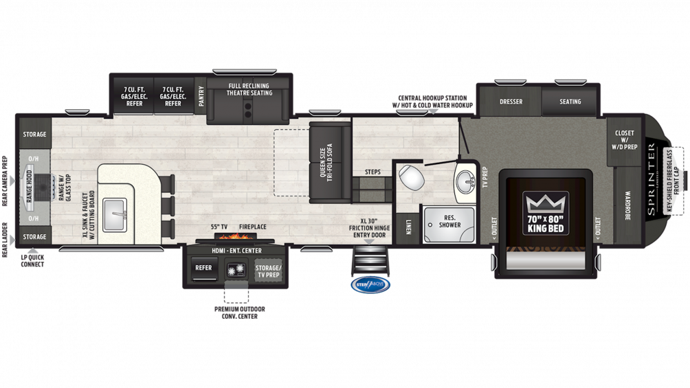 2019 Sprinter Limited 3550FWMLS Floor Plan Img