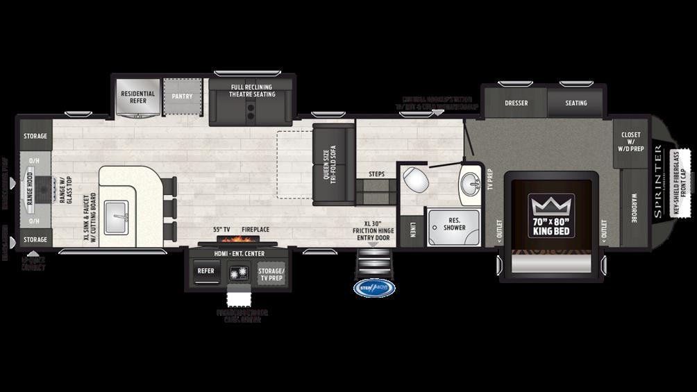 2019 Sprinter Limited 3551FWMLS Floor Plan Img