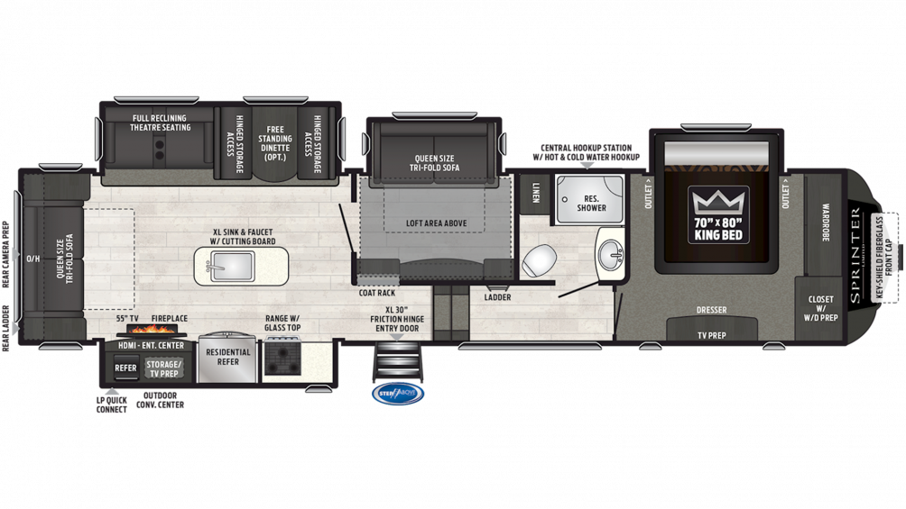 2019 Sprinter Limited 3571FWLFT Floor Plan Img