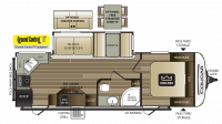 2019 Cougar Half Ton 26RKS Floor Plan