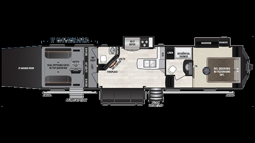 2019 Fuzion 371 Floor Plan Img