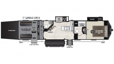 2019 Fuzion 371 Floor Plan Img