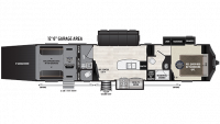 2019 Fuzion 384 Floor Plan