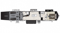 2019 Fuzion 357 Floor Plan