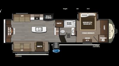 2018 Montana 3130RE Floor Plan