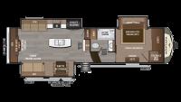 2019 Montana 3130RE Floor Plan