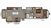 2019 Montana 3721RL Floor Plan
