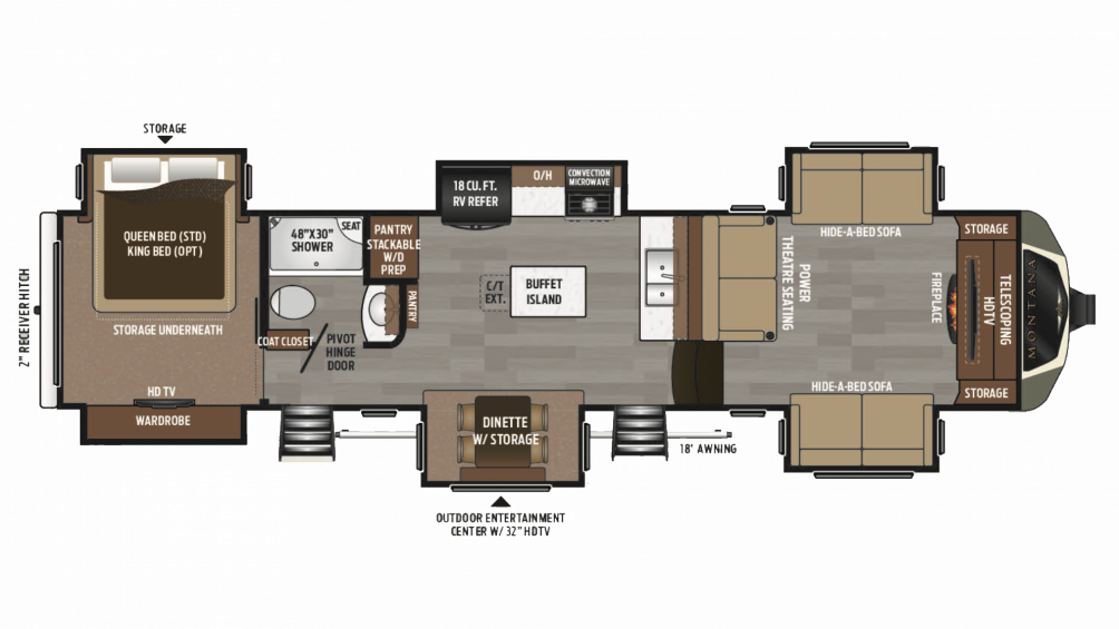 2019 Montana 3730FL Floor Plan Img