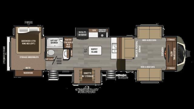Front Living Fifth Wheel Floor Plans: Front Living Room 5Th Wheel Floor Plans