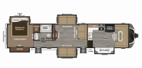 2019 Montana 3820FK Floor Plan