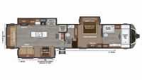 2019 Montana 3921FB Floor Plan