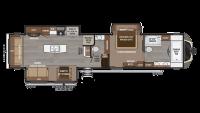 2019 Montana 3921FB Floor Plan