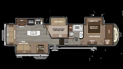 2019 Montana 3950BR Floor Plan Img