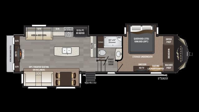 2018 Montana High Country 310RE Floor Plan