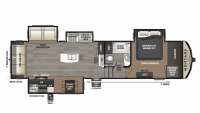 2019 Montana High Country 345RL Floor Plan