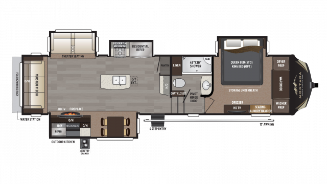 2018 Montana High Country 345RL Floor Plan