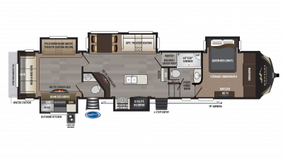2018 Montana High Country 362RD Floor Plan