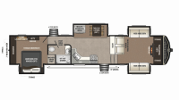 2019 Montana High Country 375FL Floor Plan