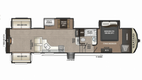 2019 Montana High Country 378RD Floor Plan