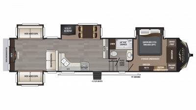 2018 Montana High Country 378RD Floor Plan