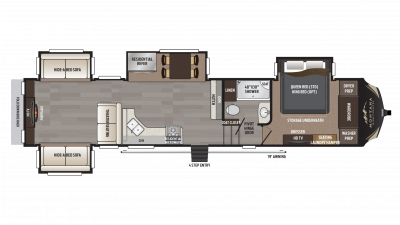 2018 Montana High Country 379RD Floor Plan