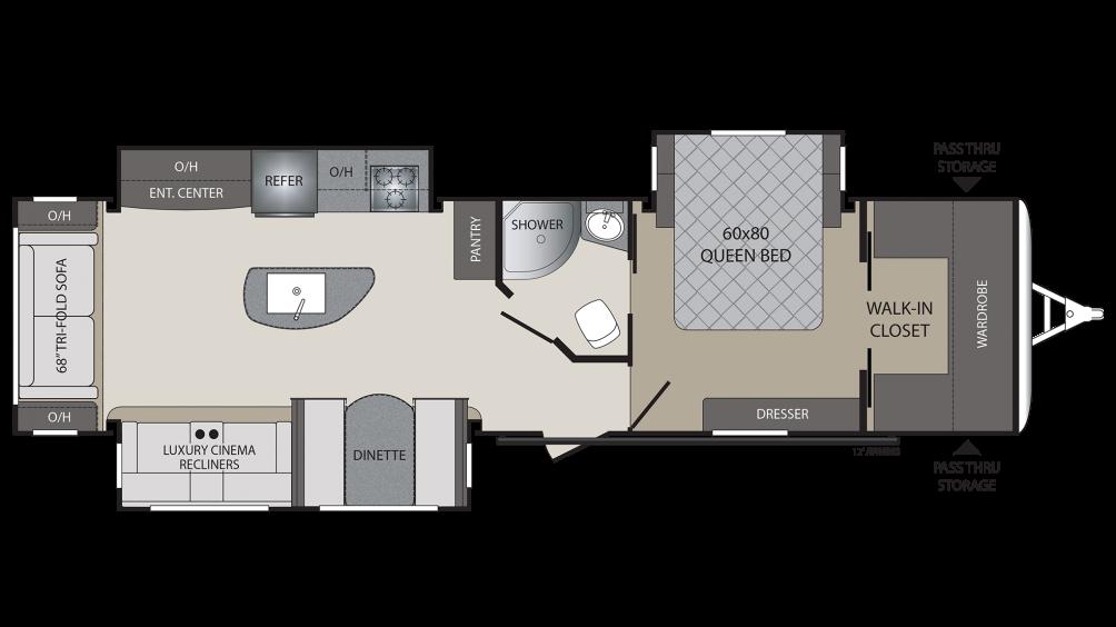 2018 Premier 34RIPR Floor Plan Img