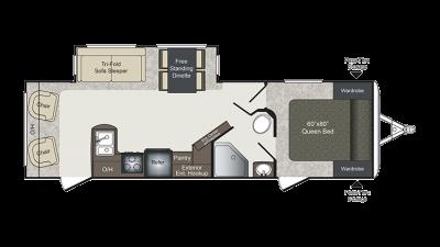 Laredo 288RL Floor Plan - 2018