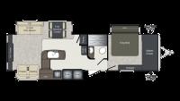 2018 Laredo 334RE Floor Plan