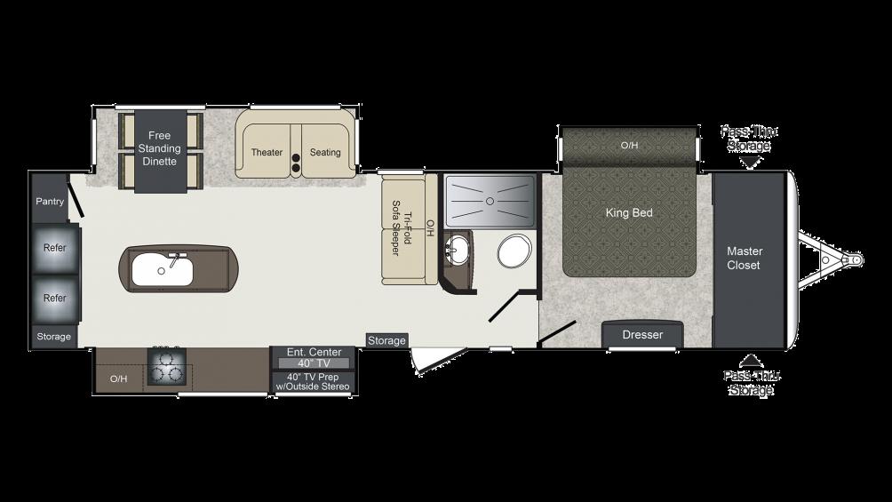 Laredo 335MK Floor Plan - 2018