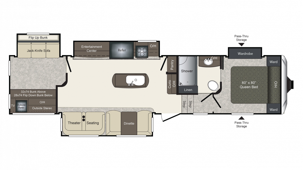 Laredo 357BH Floor Plan - 2018