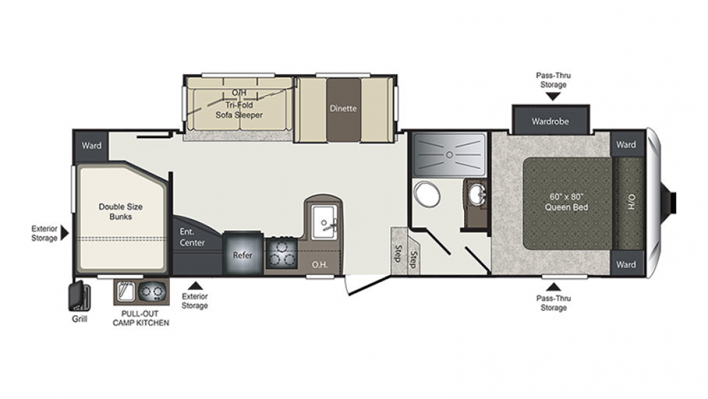 Laredo Super Lite 285SBH Floor Plan - 2018