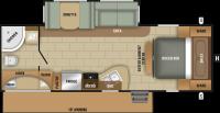 2018 Launch Ultra Lite 25RBS Floor Plan