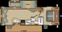 2018 Launch Ultra Lite 26RLS Floor Plan