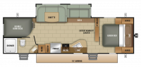 2018 Launch Ultra Lite 27BHU Floor Plan