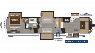 Montana 3740FK Floor Plan - 2020