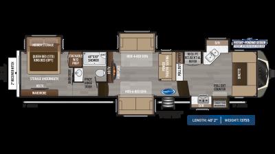 Montana 3741FK Floor Plan - 2020