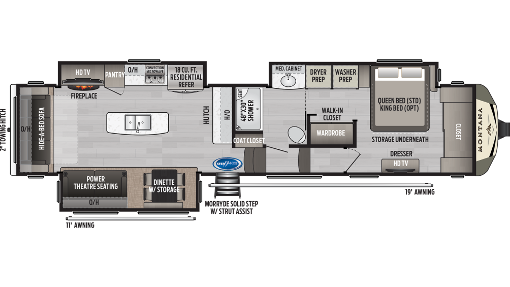 Montana 3813MS Floor Plan - 2020