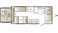2010 Outback 210RS Floor Plan