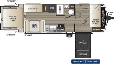 2020 Outback Ultra Lite 240URS - 451495