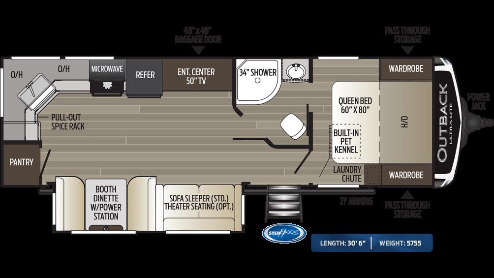 Outback Ultra Lite 260UML Floor Plan - 2020