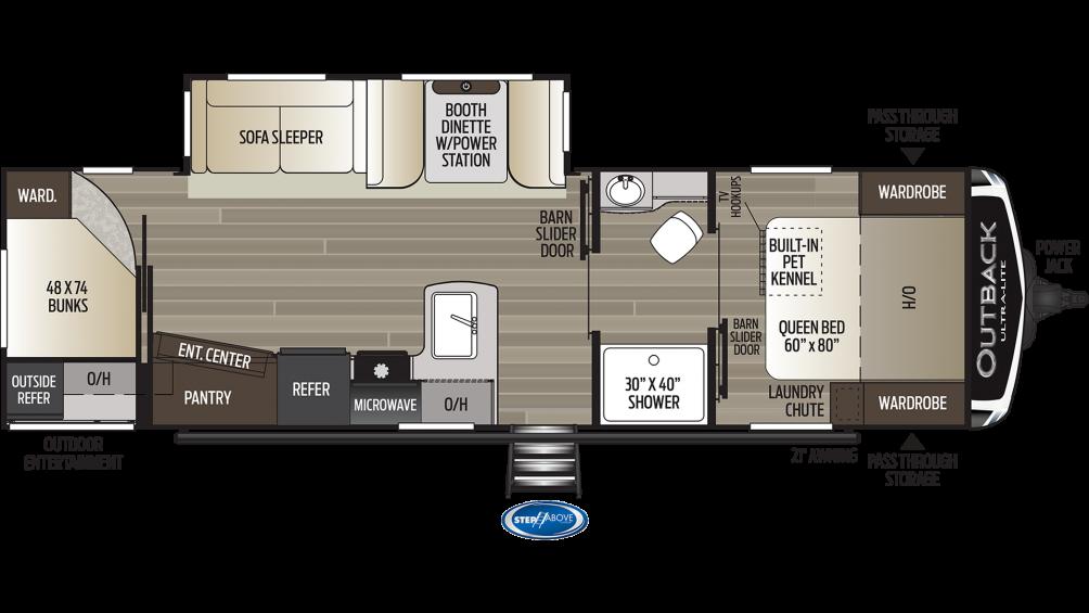 Outback Ultra Lite 291UBH Floor Plan - 2020