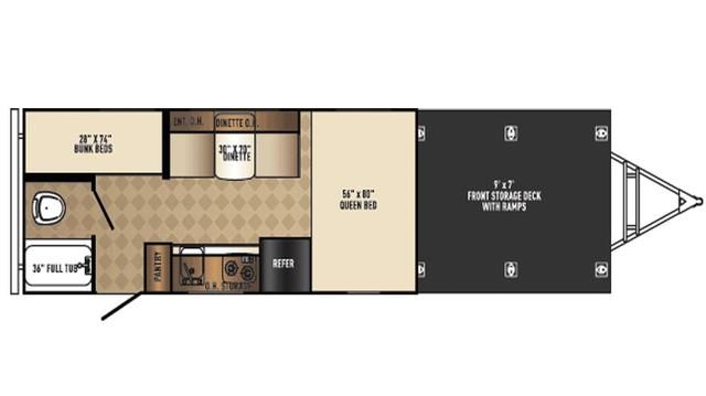 2018 PaloMini 177BH-ORV Floor Plan