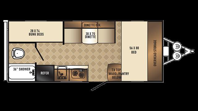 2018 PaloMini 177BH Floor Plan