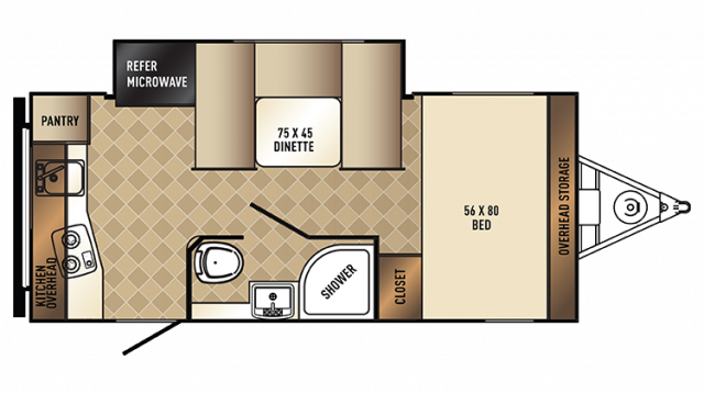 2018 PaloMini 178RK Floor Plan